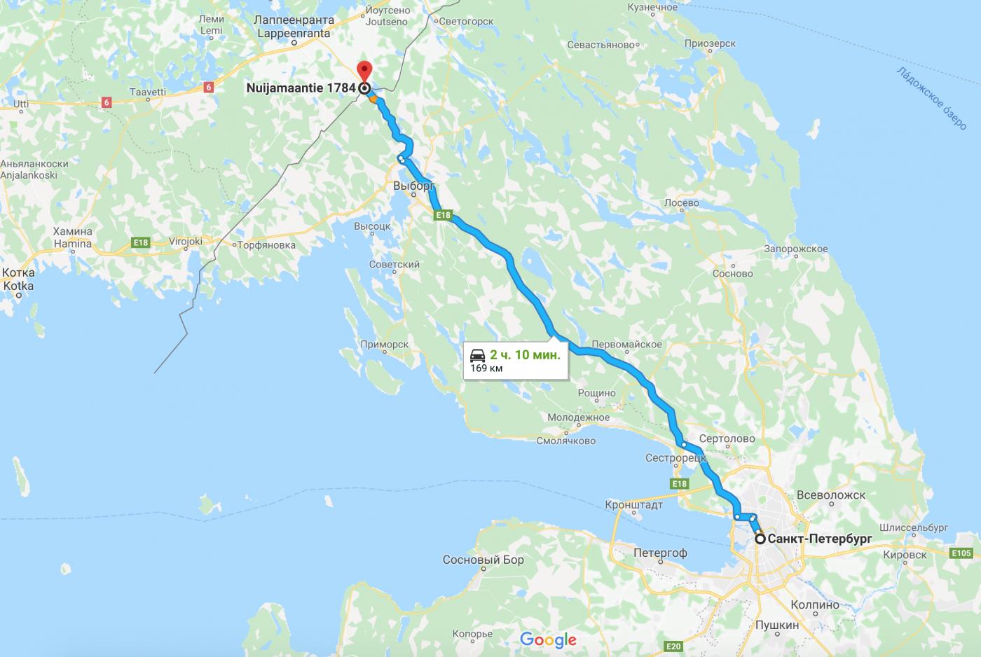 из Питера в Финляндию